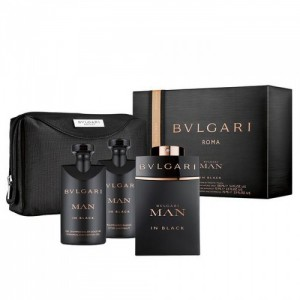 Bvlgari Man in Black (Тоалетна вода 100ml + Афтършейв 75ml + Душ Гел  75ml + Несесер)